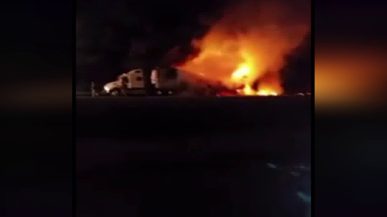 Driver charged in fiery veggie semi crash on I-295