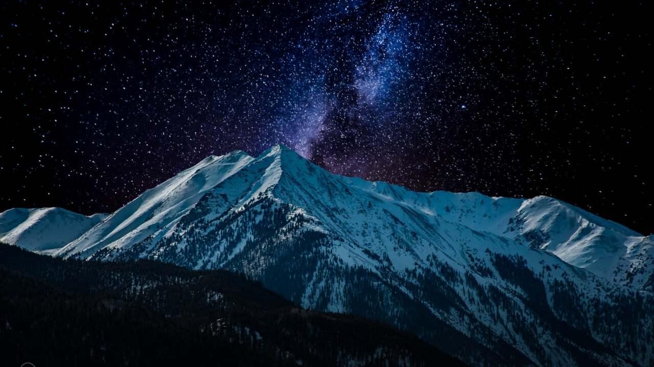 Moonlight Colorado mountains