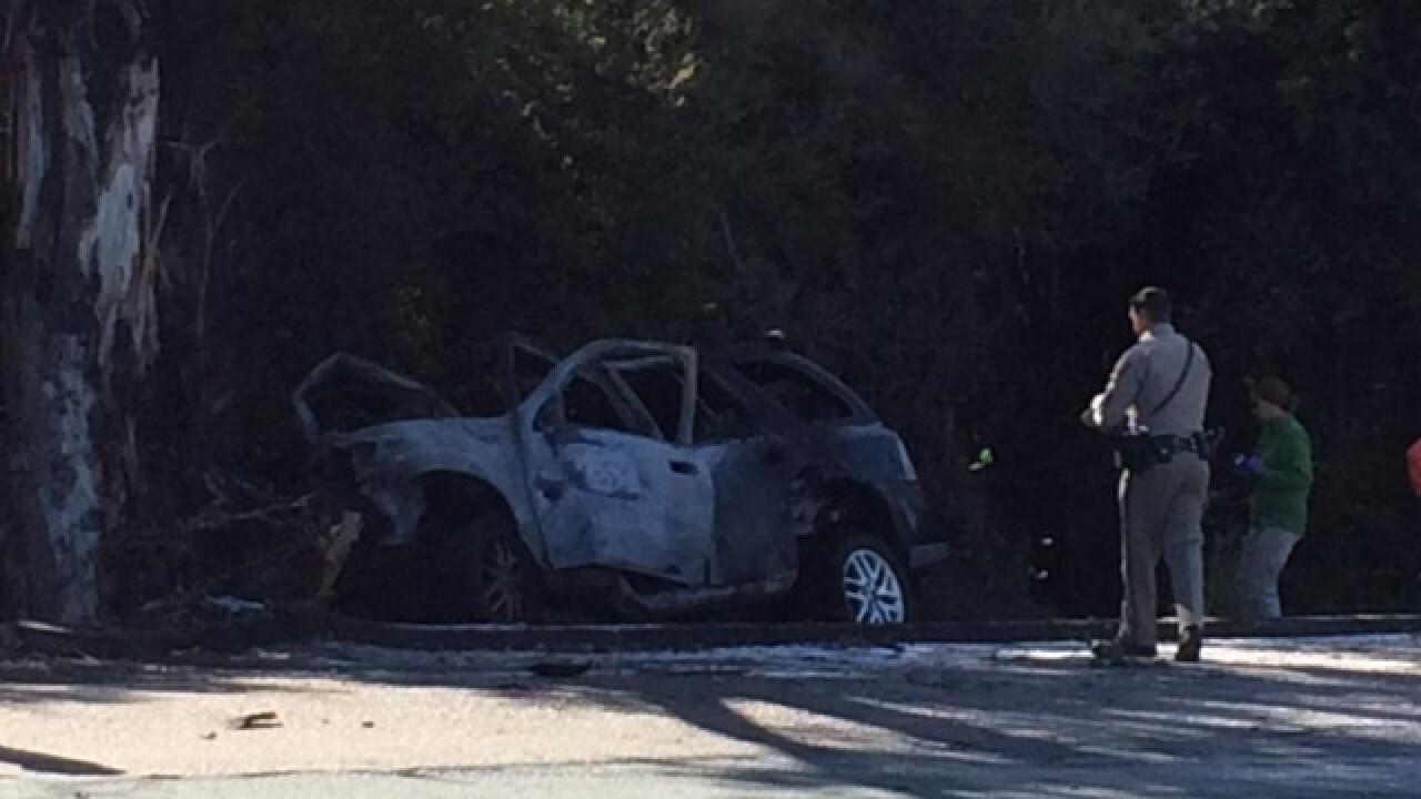Two killed in fiery Escondido wreck