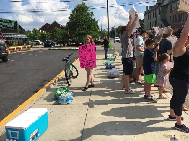 PHOTOS: Noblesville students, parents protest outside NRA tent