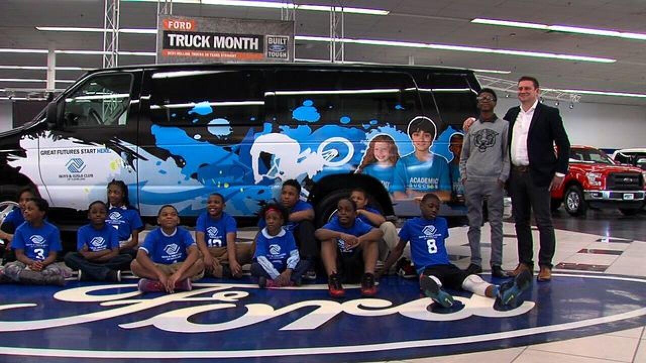 Liberty Ford donates van to Boys & Girls Clubs