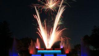 Cascades Falls Fireworks