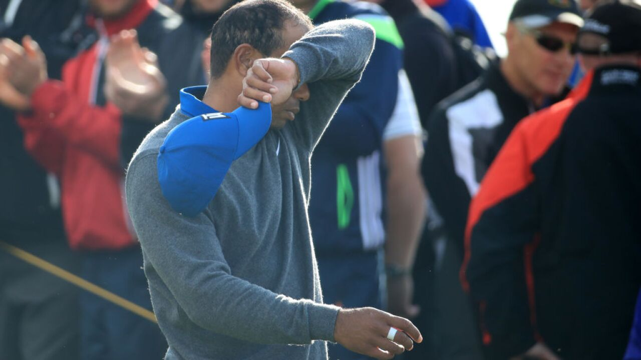 Tiger Woods 'sore' and 'scraping it around' at the Open