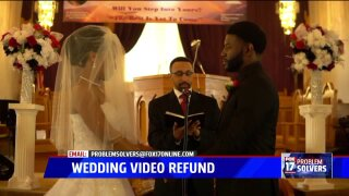 Couple continues months-long wait for wedding video refund