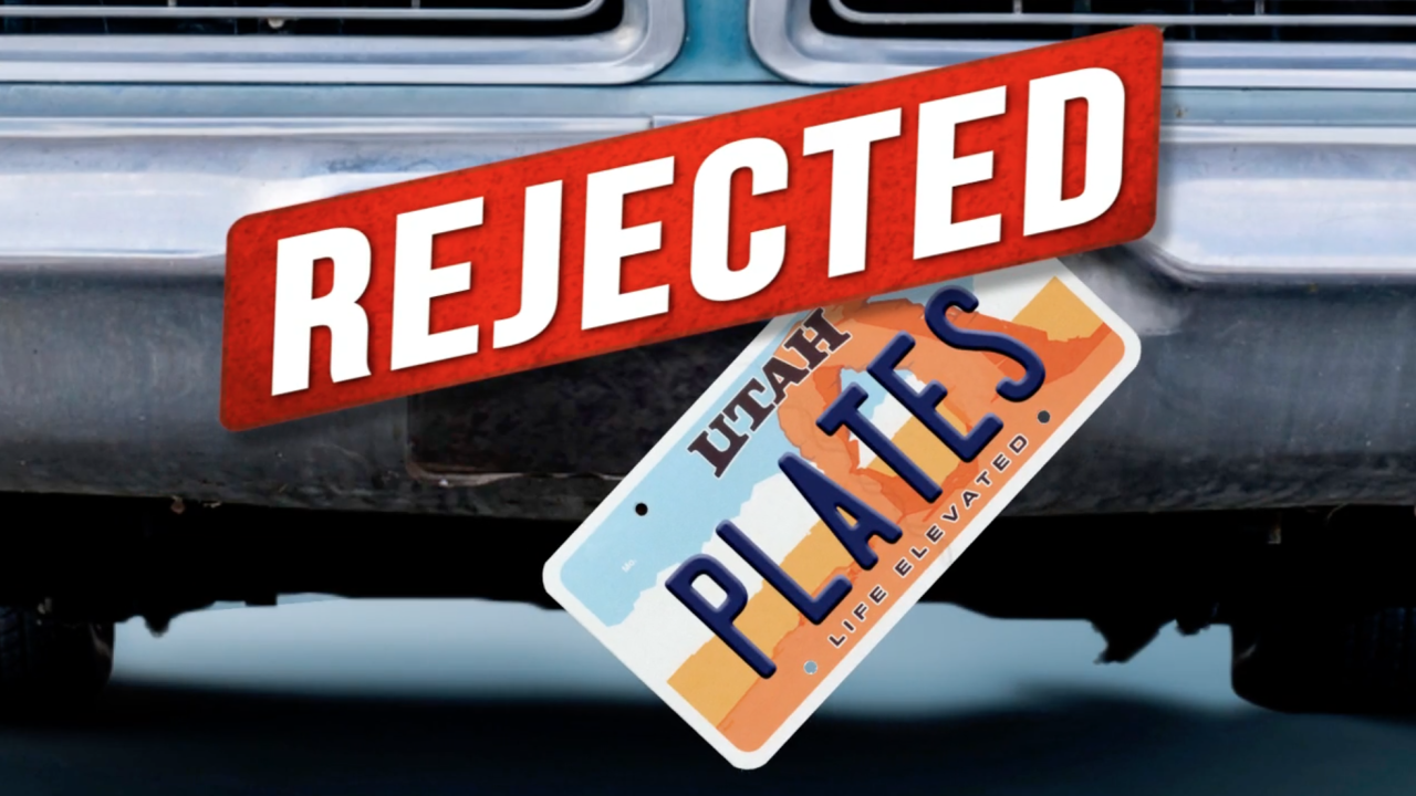 From sex to hate speech, here's the list of rejected vanity plates in Utah