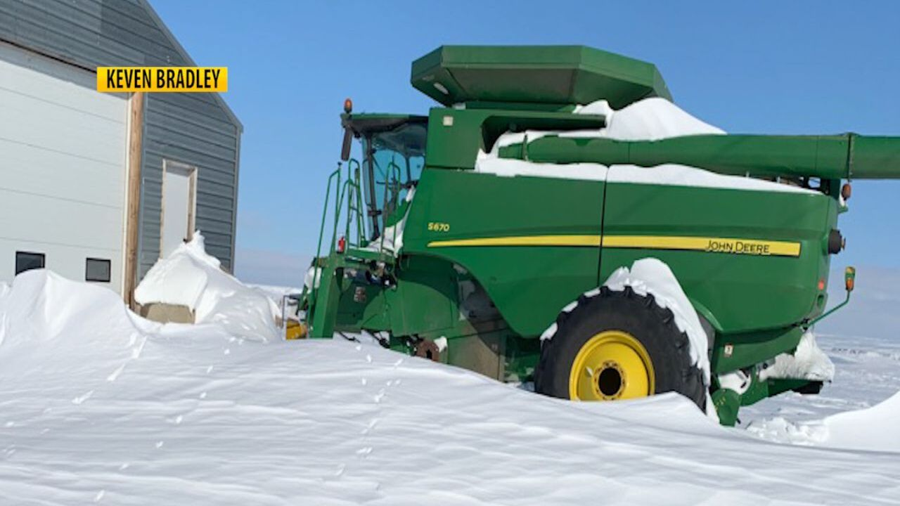 Combine In The Snow