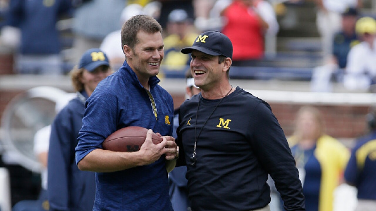 Tom Brady Jim Harbaugh