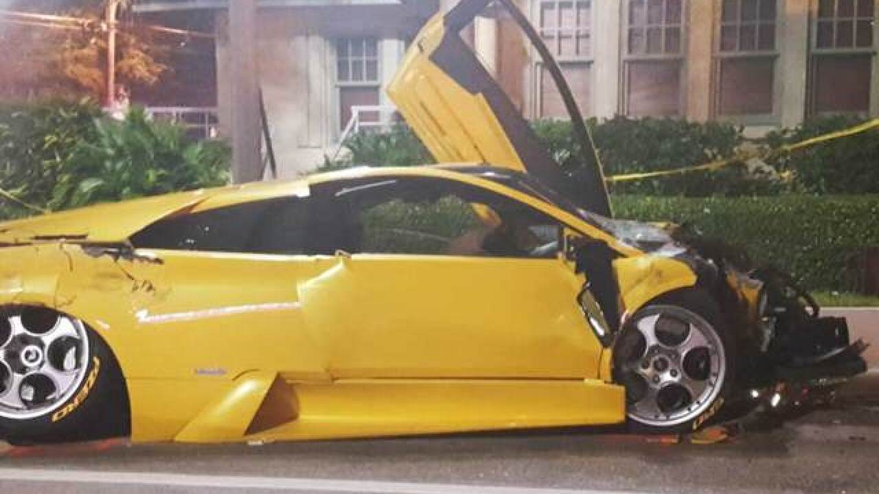 Lambo drive in crash, girlfriend have past DUIs