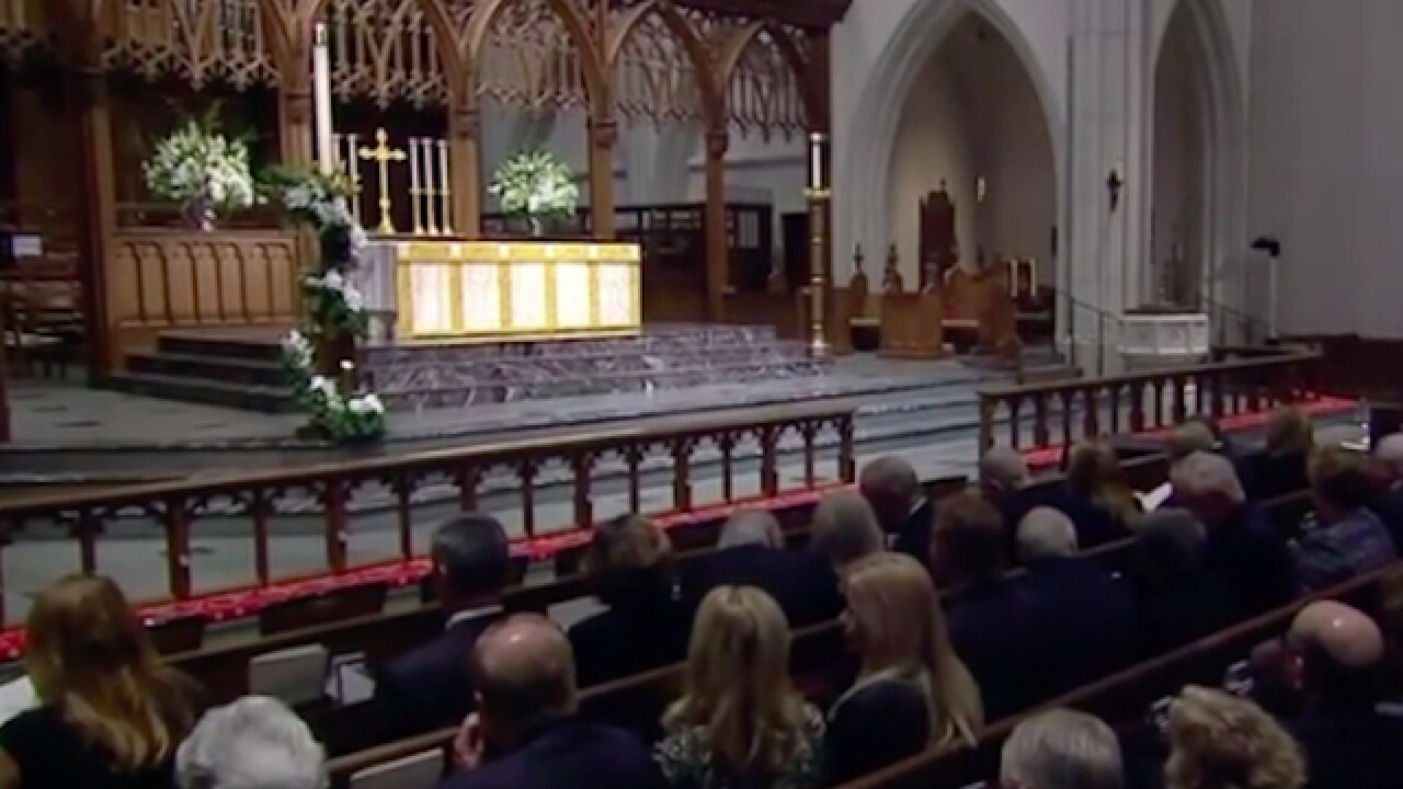 George H.W. Bush's final day of mourning ends with ride on train