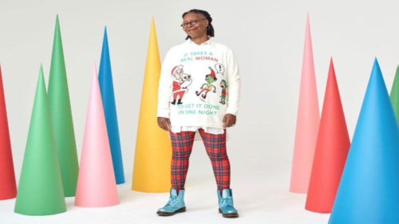 Whoopi Goldberg Has An Ugly Christmas Sweater Line That's Actually More Cute Than Ugly