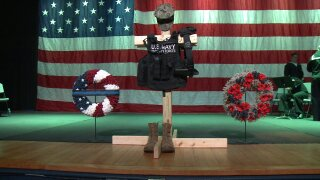 Watch: Memorial service held for Navy Sailor killed in Fort Storycrash