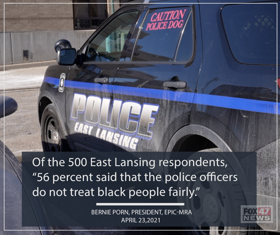 56 percent of all respondents said that police officers do not treat black people fairly