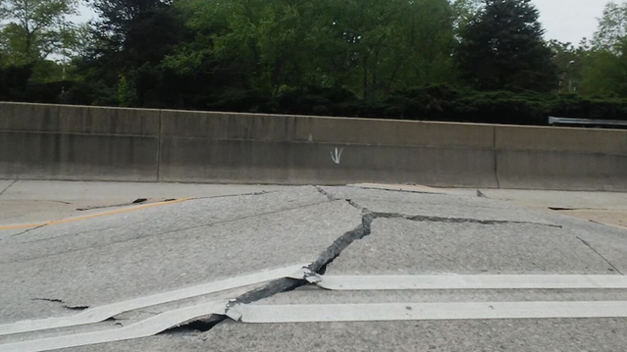 Another Atlanta highway has been heavily damaged and is closed