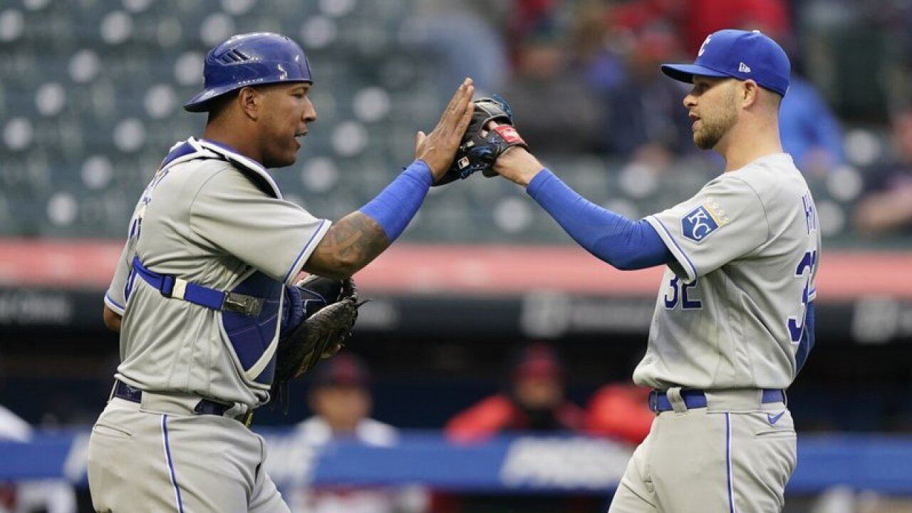 Jesse Hahn and Salvador Perez