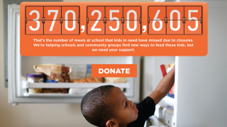 No Kid Hungry Website page