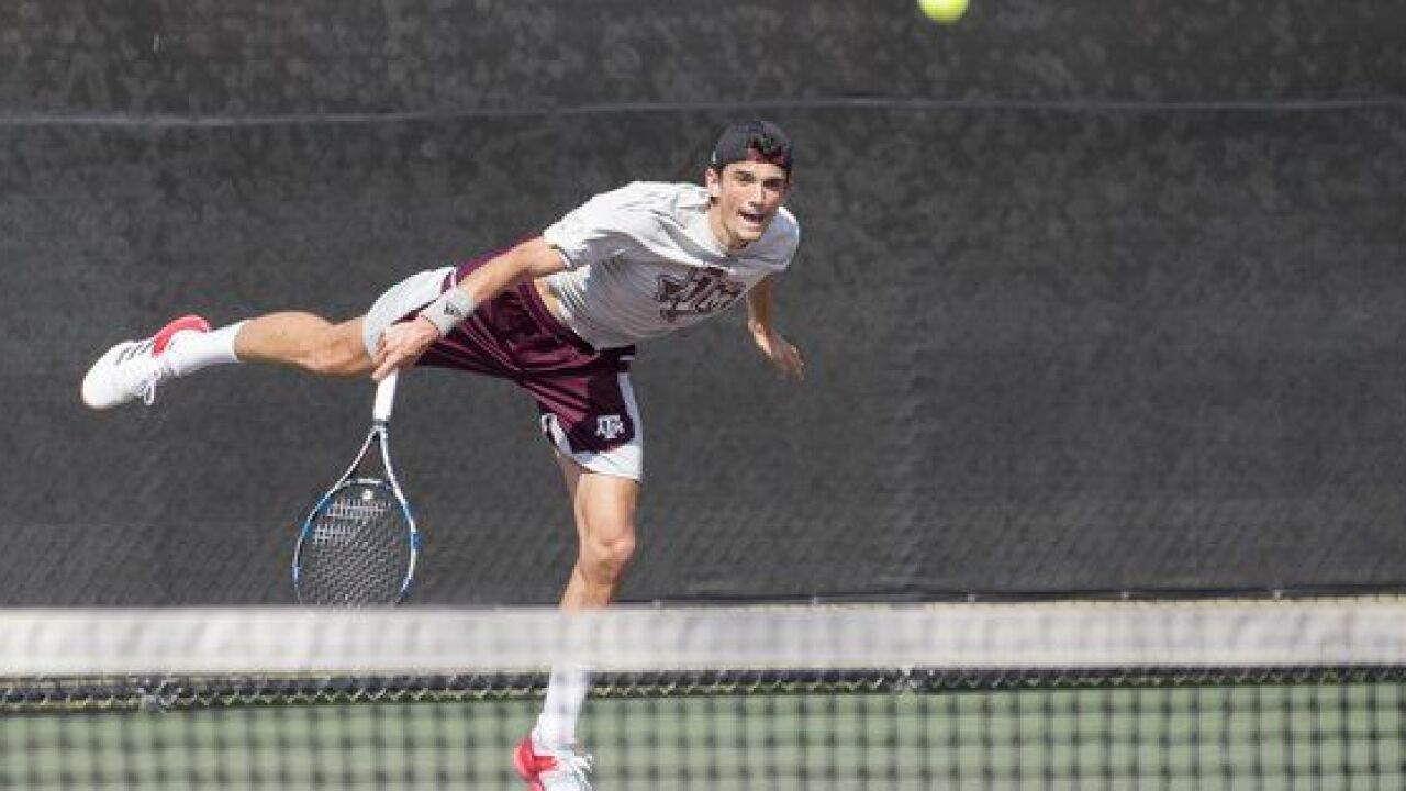 No. 5 Aggie Men's Tennis Faces South Carolina Sunday