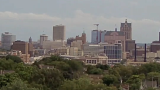 View of Milwaukee skyline from Martin Luther King Drive camera