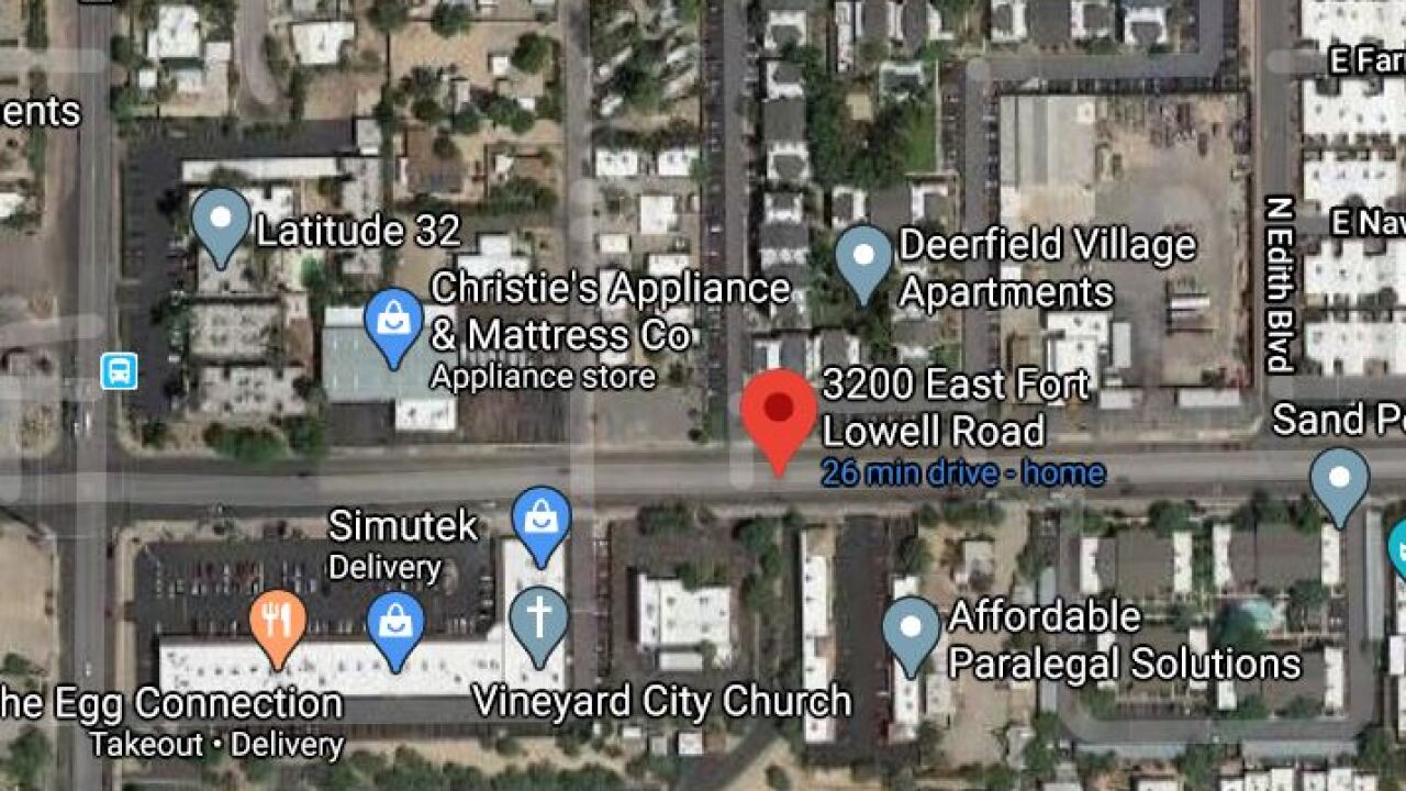 Tucson police took a midtown man into custody following a domestic violence-related standoff that lasted hours. Photo via Google Maps.