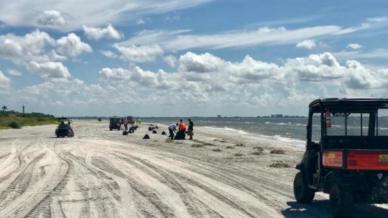 Crews continue to clean-up Sanibel Island