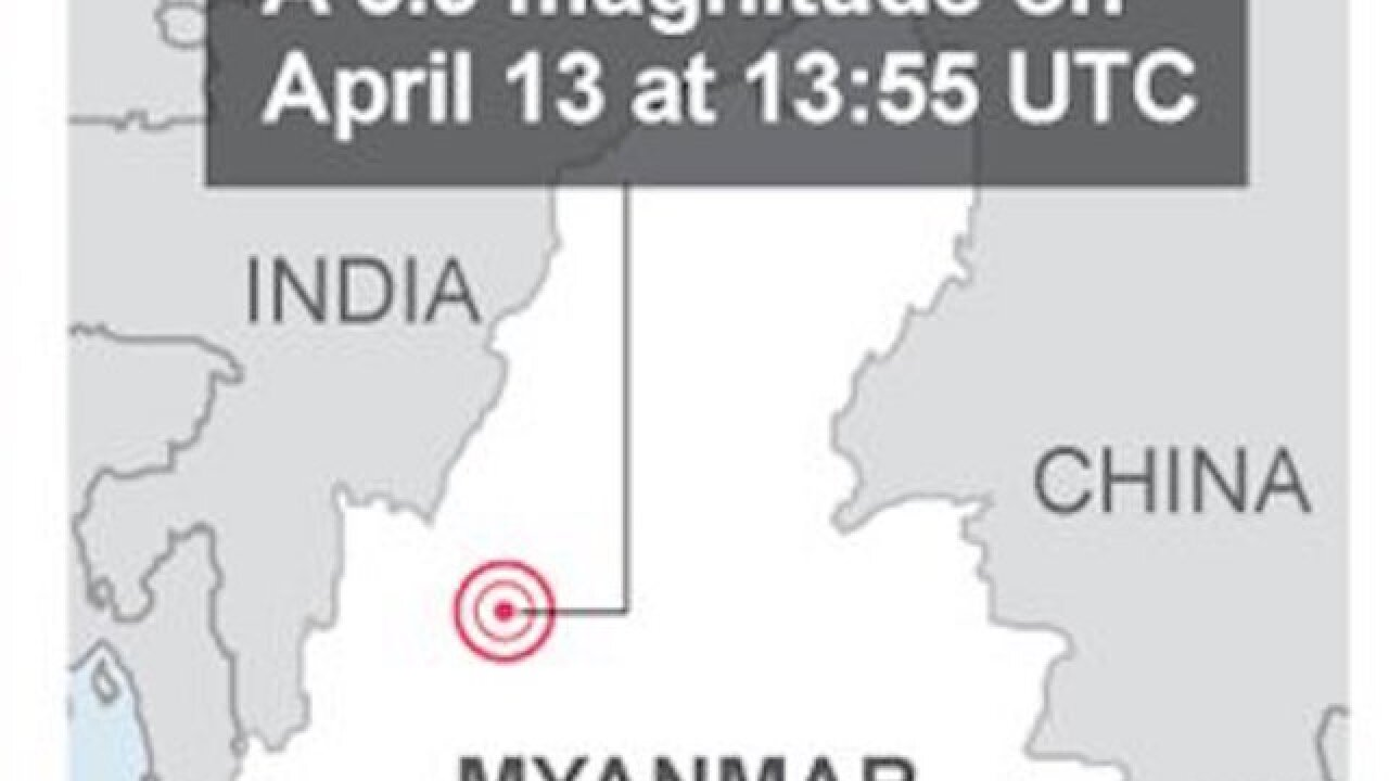 Strong earthquake shakes Myanmar