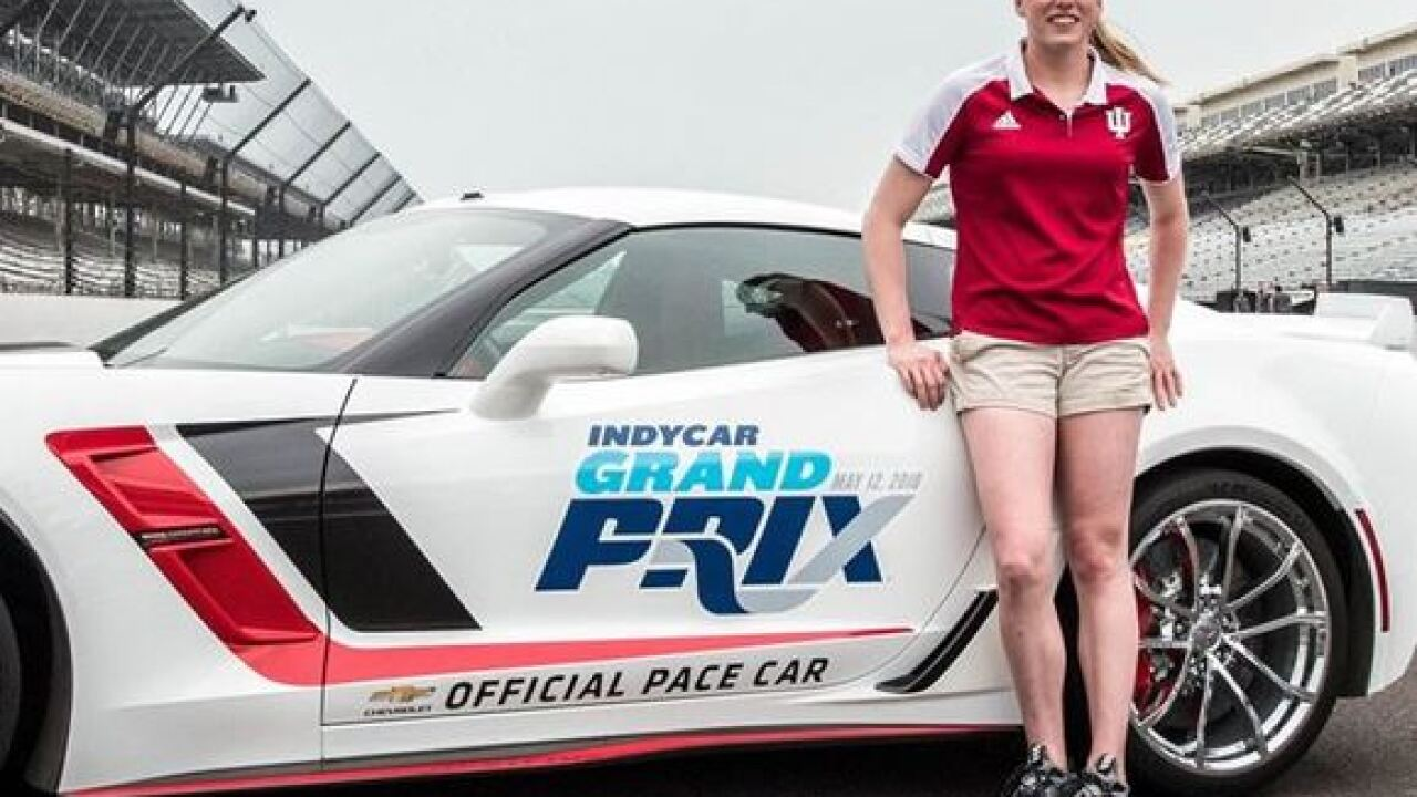Hoosier Olympian Lilly King will drive IndyCar Grand Prix pace car