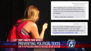 How to stop those unwanted political texts