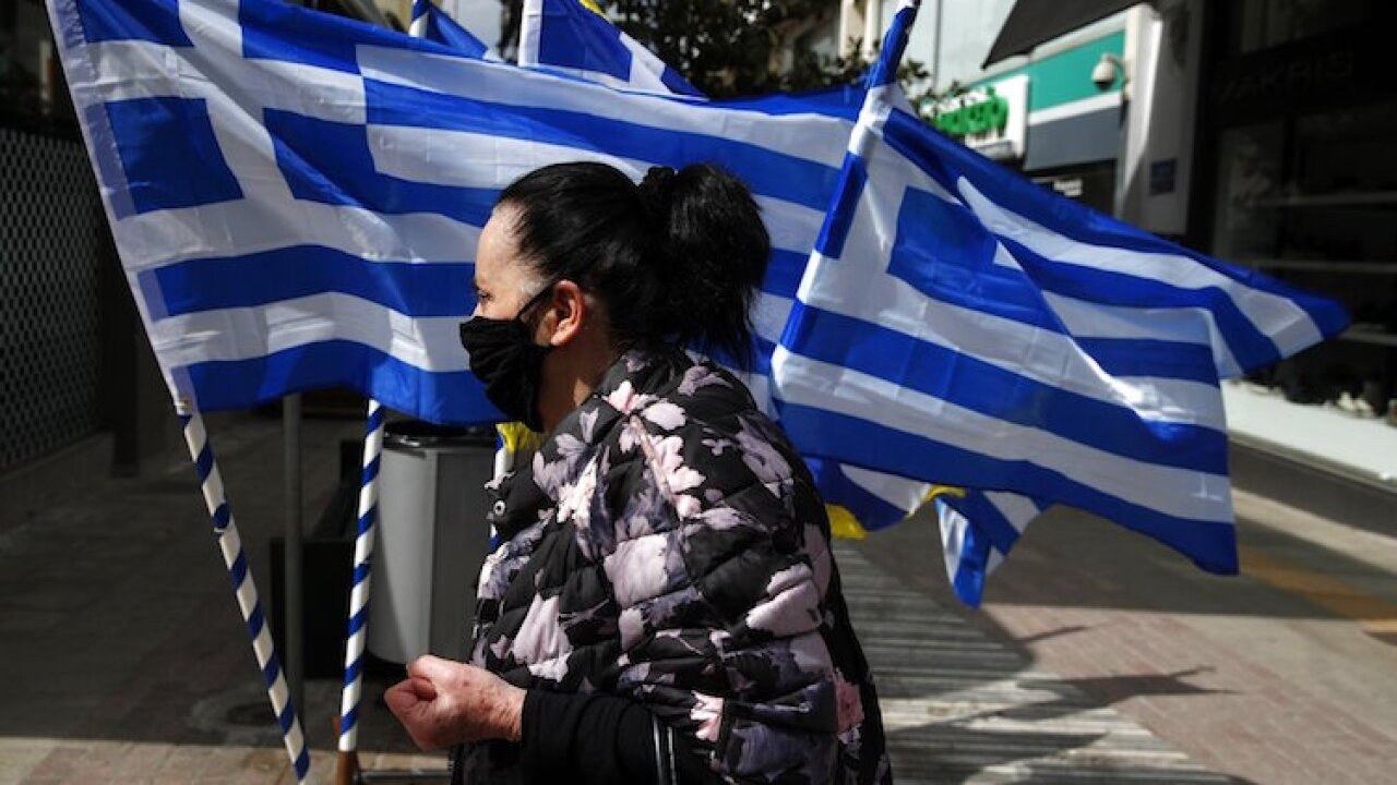 Virus Outbreak Greece Independence Anniversary