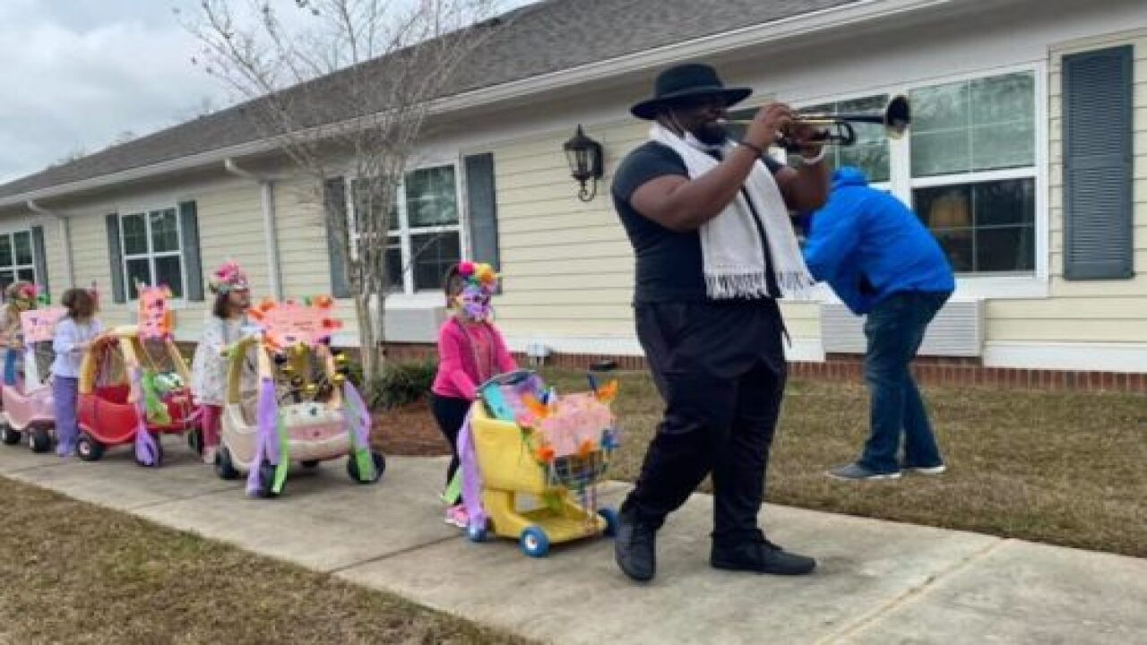 Preschoolers Put On Mardi Gras Parade For Senior Home Residents