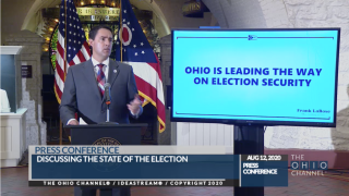 Secretary of State Frank LaRose speaks about Election Day 2020