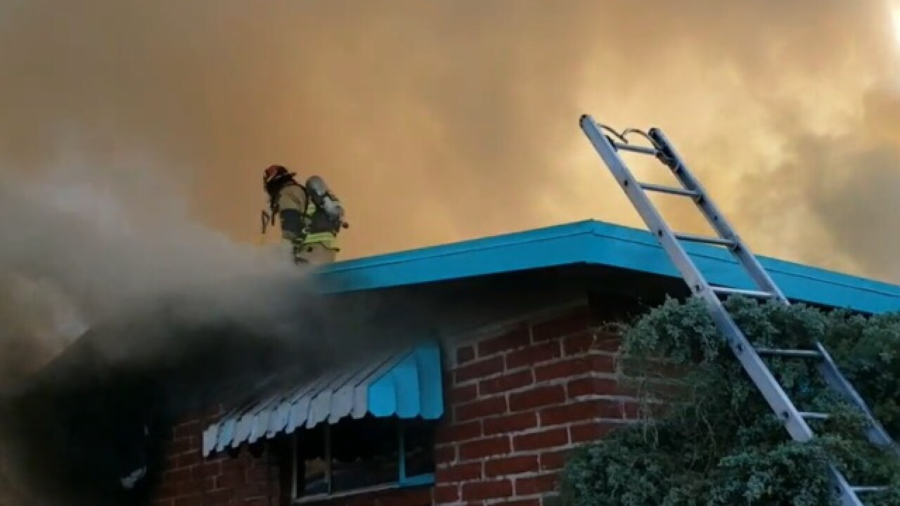 3 sent to hospital in Sunday morning house fire