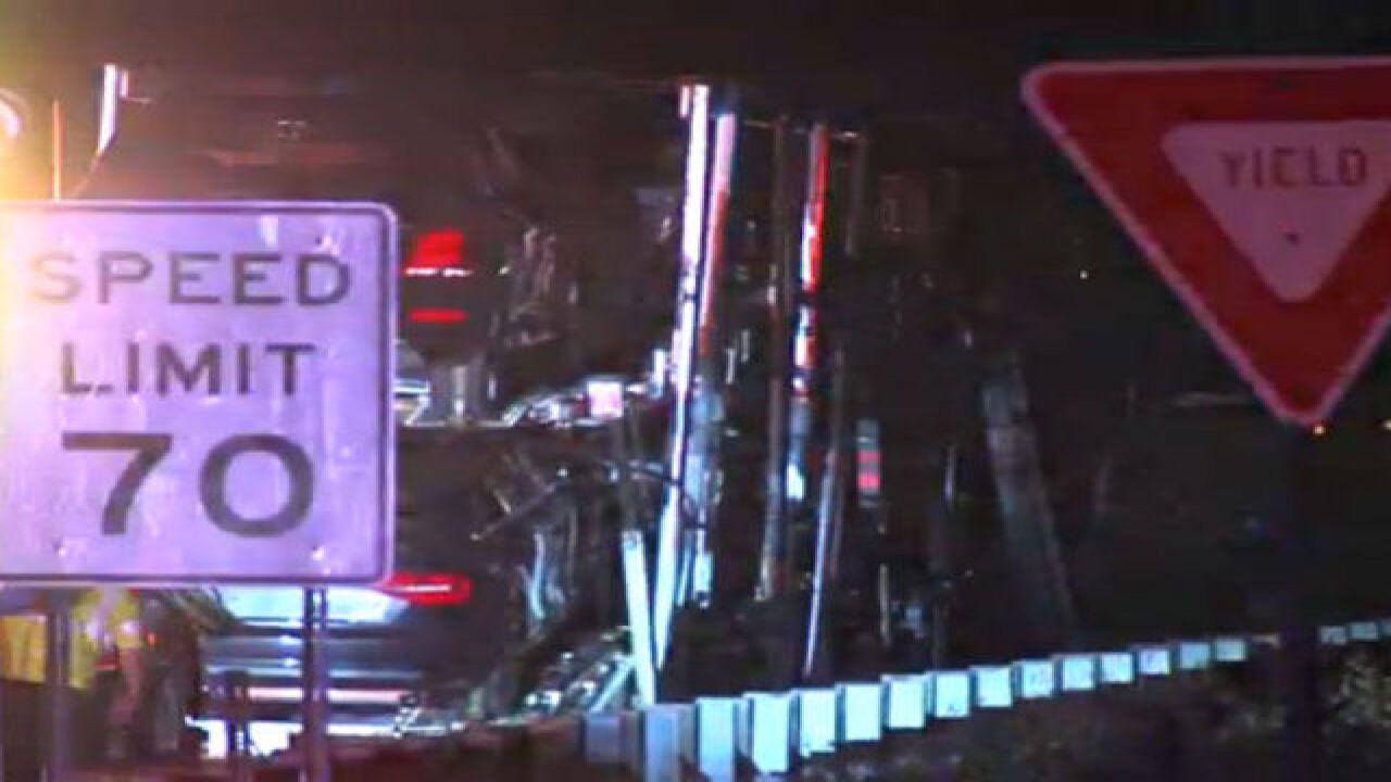 Semi fire closes Turnpike overnight