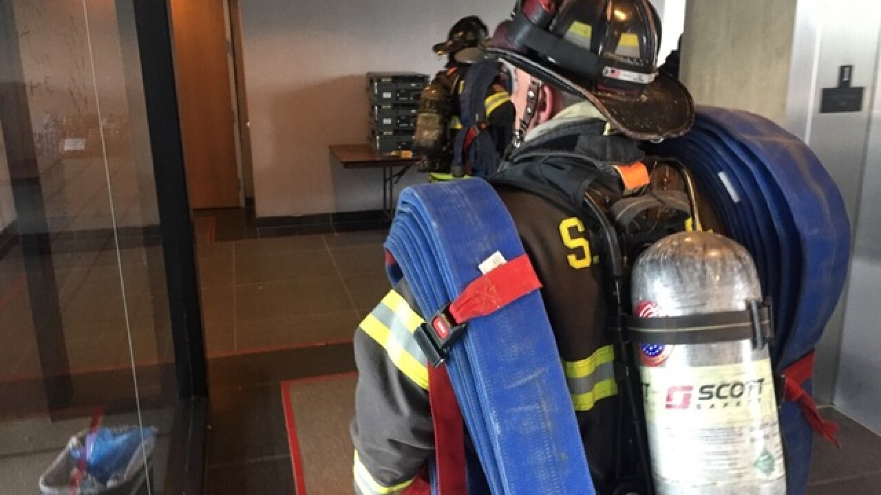 3 departments train for large commercial fires