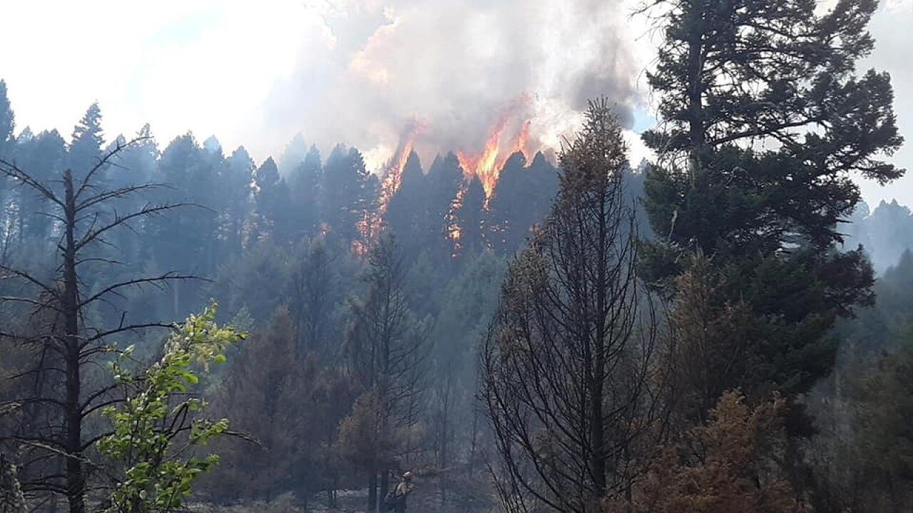 Evacuations ordered for residents near Deep Creek Fire