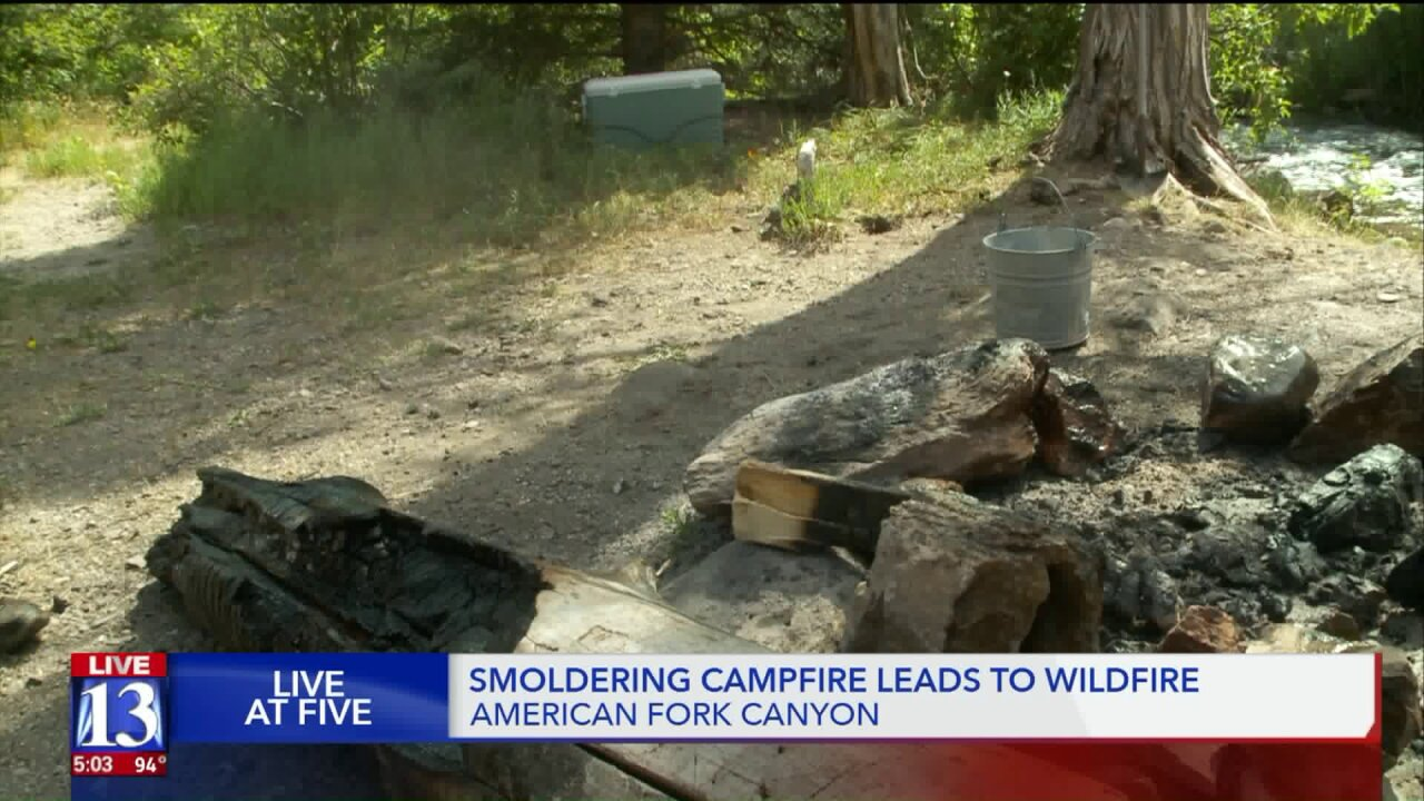 Forest Service issues warning after smoldering campfire sparkswildfire