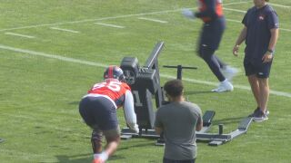 Bradley Chubb get his first reps at Broncos Training Camp