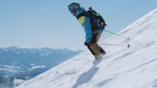 12-year-old Jacob Smith becomes the first blind skier to ski the Big Couloir