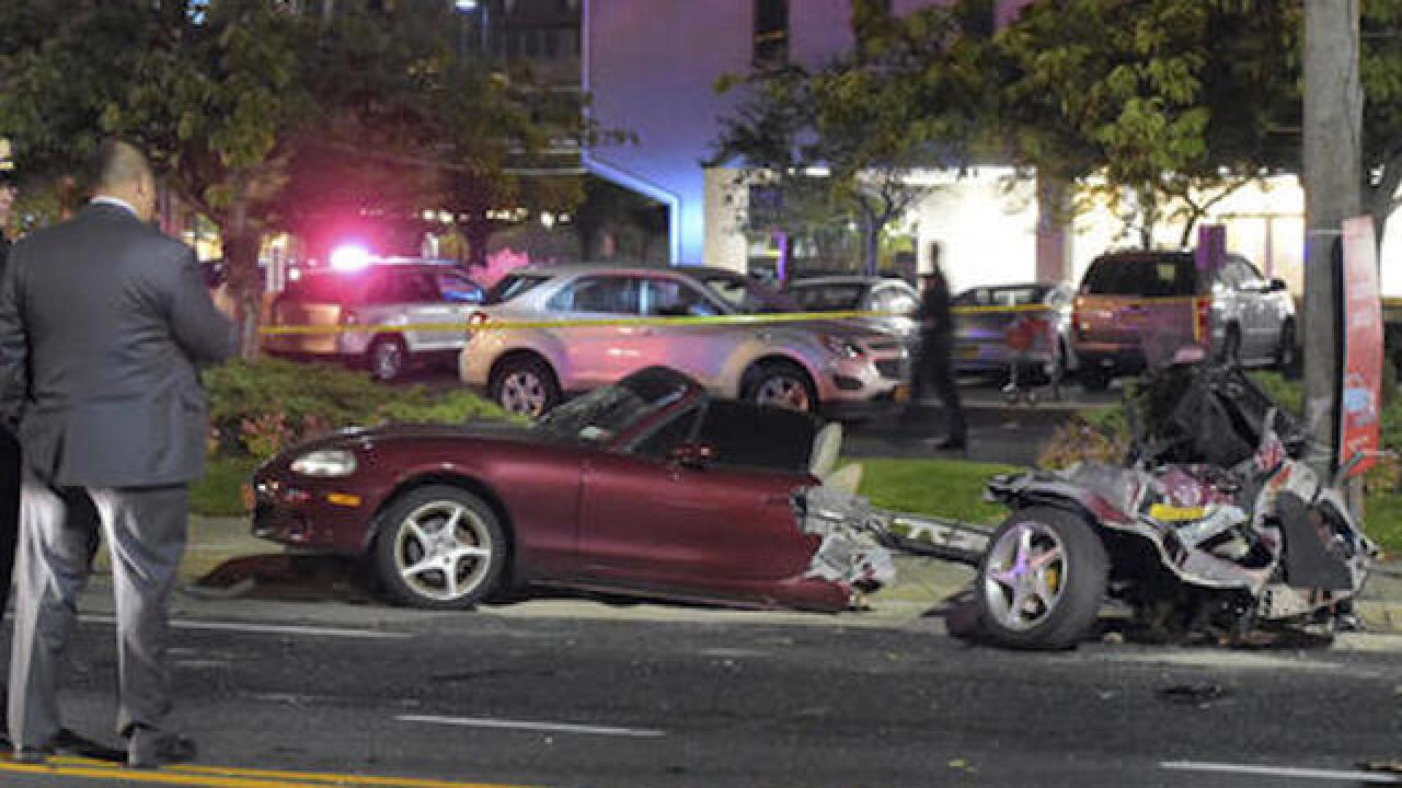 Car split in half by drunken driver, all passengers survive