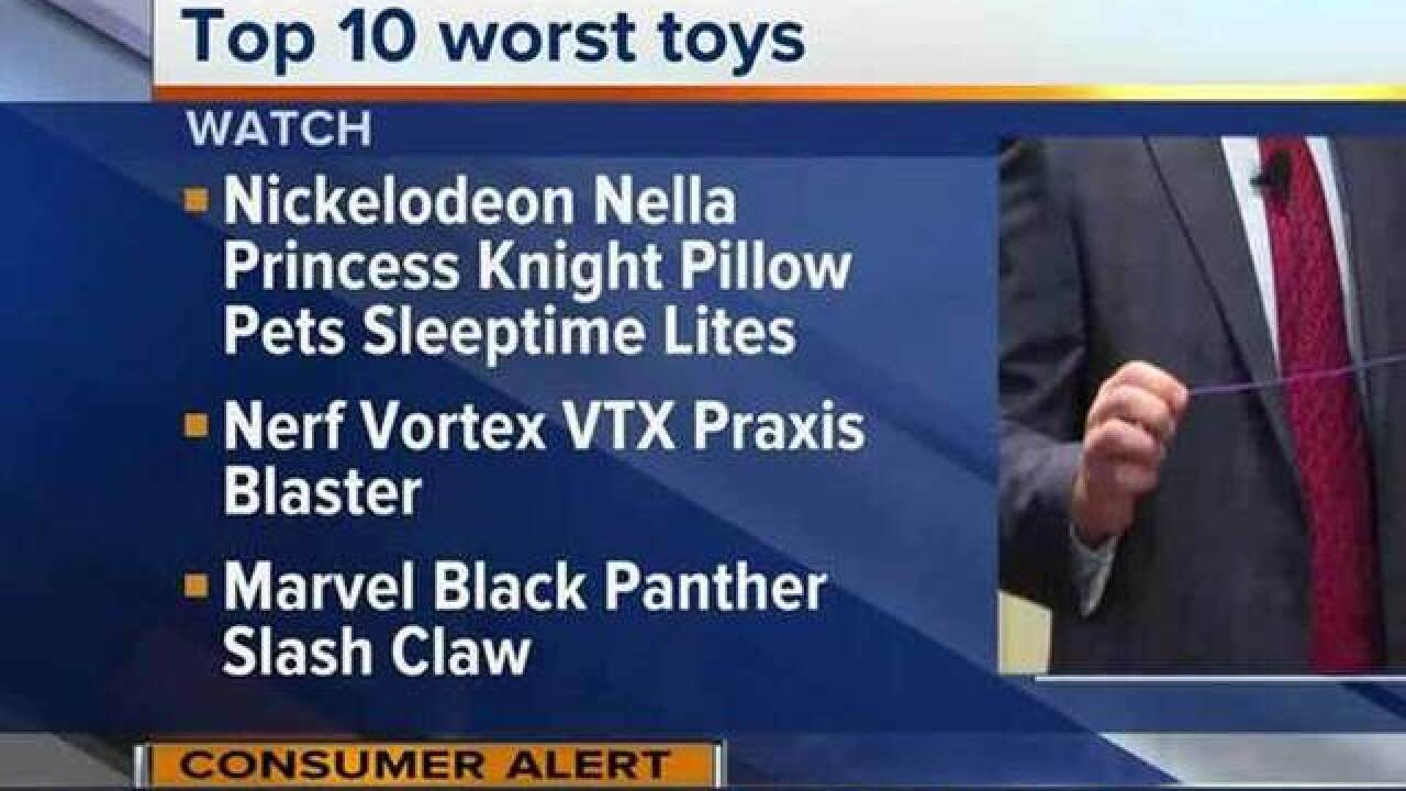 Consumer group: 10 most dangerous holiday toys