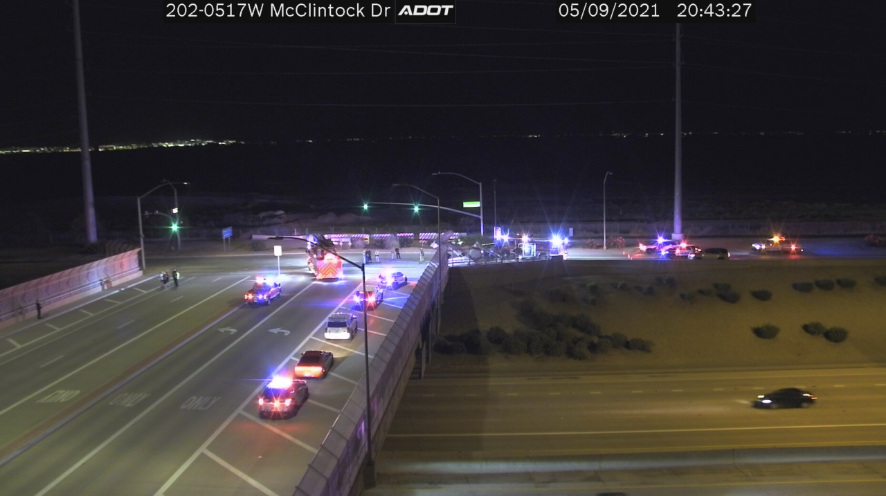 Small plane crashes Loop 202 and McClintock