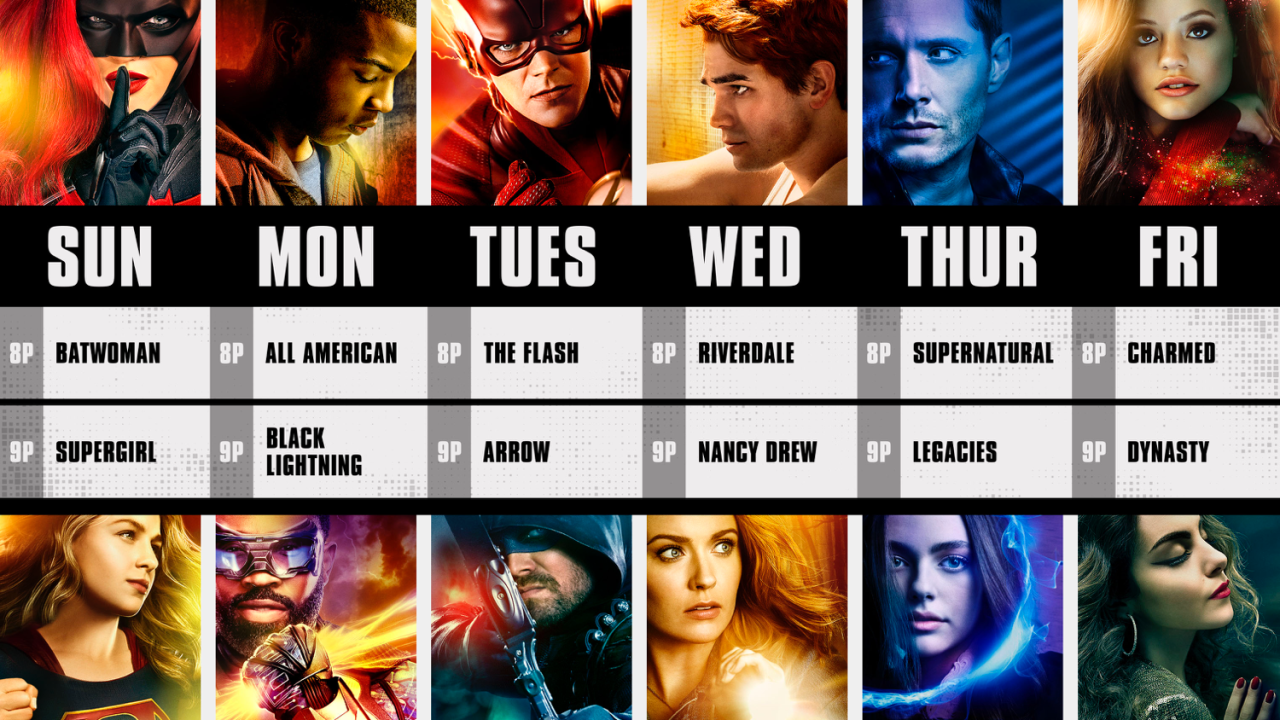 THE CW announces its new Fall Schedule for 2019-2020 Season