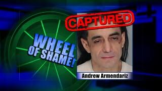 Wheel of Shame Fugitive Arrested: Andrew Armendariz
