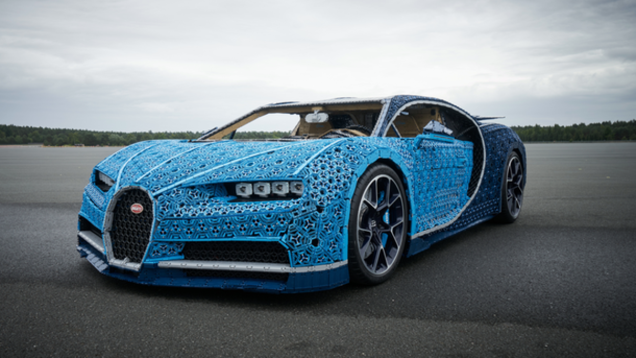 LEGO created a full-size Bugatti that can drive up to 18 MPH