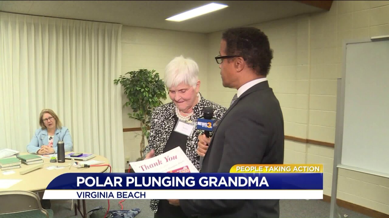 People Taking Action: Polar Plunging great grandma!