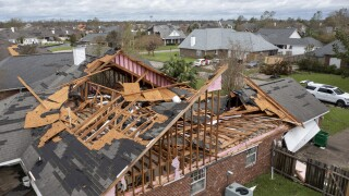 Damaged home in LaPlace, La. after Hurricane Ida