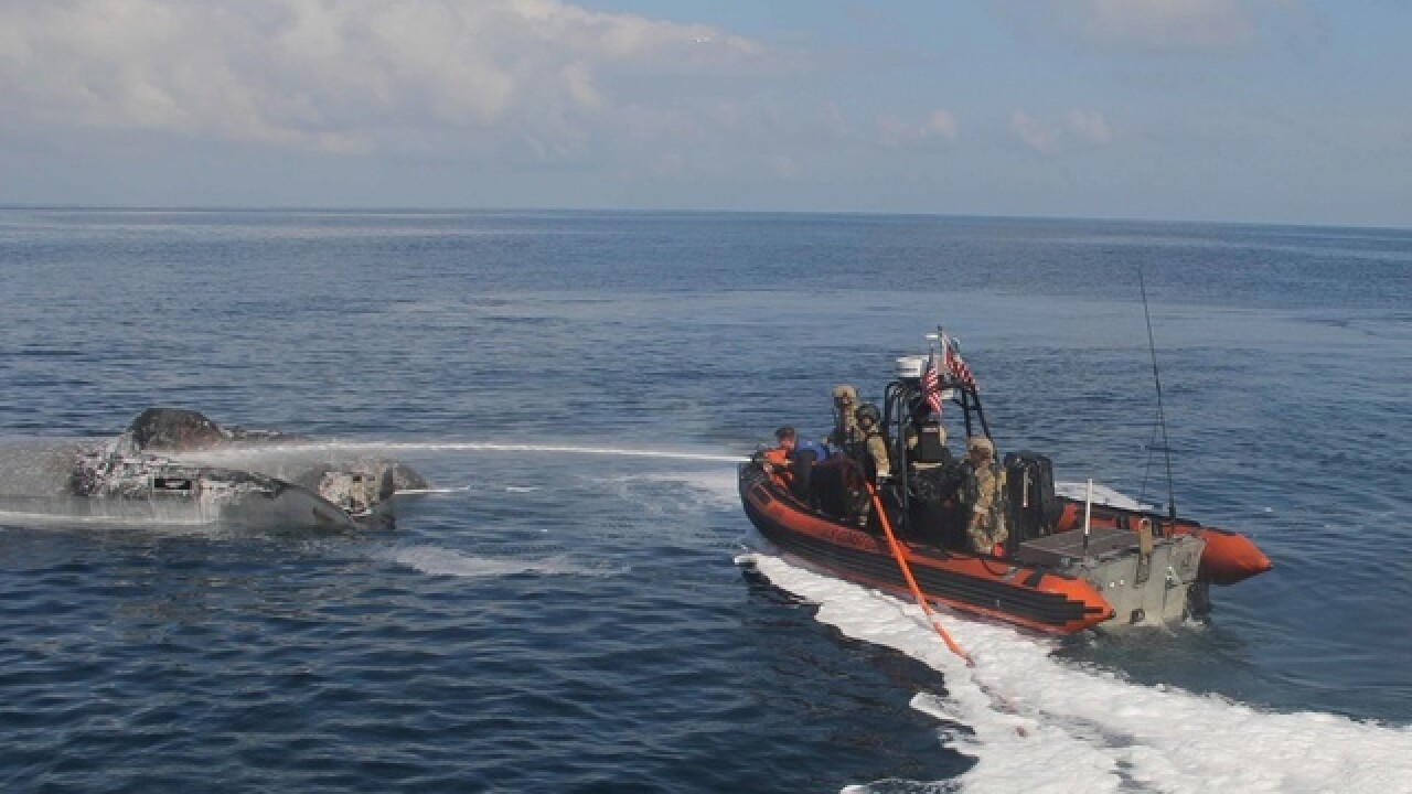 U. S. Coast Guard intercept Suspected Drug Smuggling Vessel