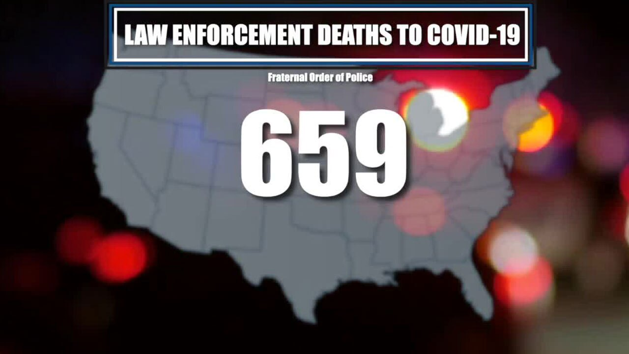 Law enforcement deaths from COVID in the U.S.