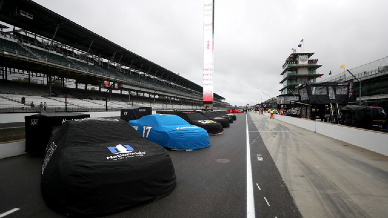 Final regular season NASCAR race postponed by rain at Indy