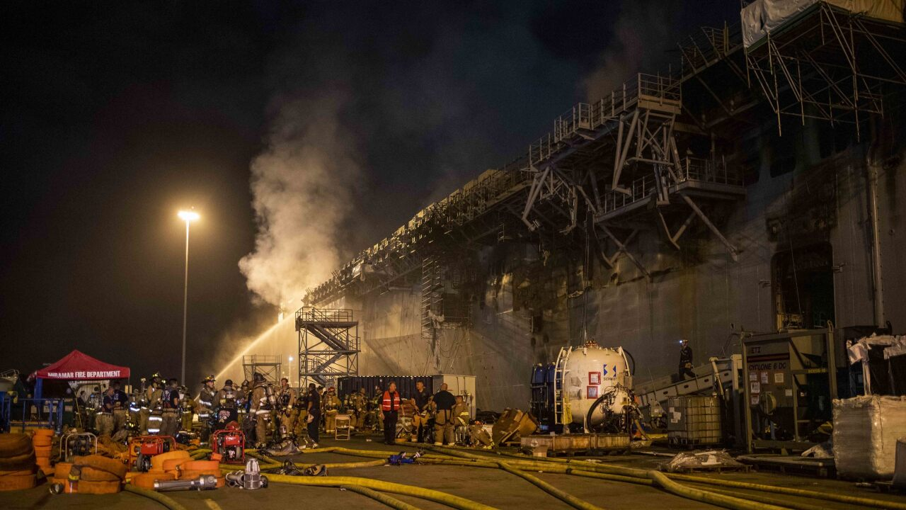 USS Bonhomme Richard (LHD 6) Fire
