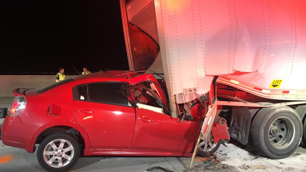 Troopers identify driver who died after crashing into back of semi stalled on I-15 in Salt LakeCounty