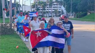 Cuban Vigil & March at Jose Marti Park